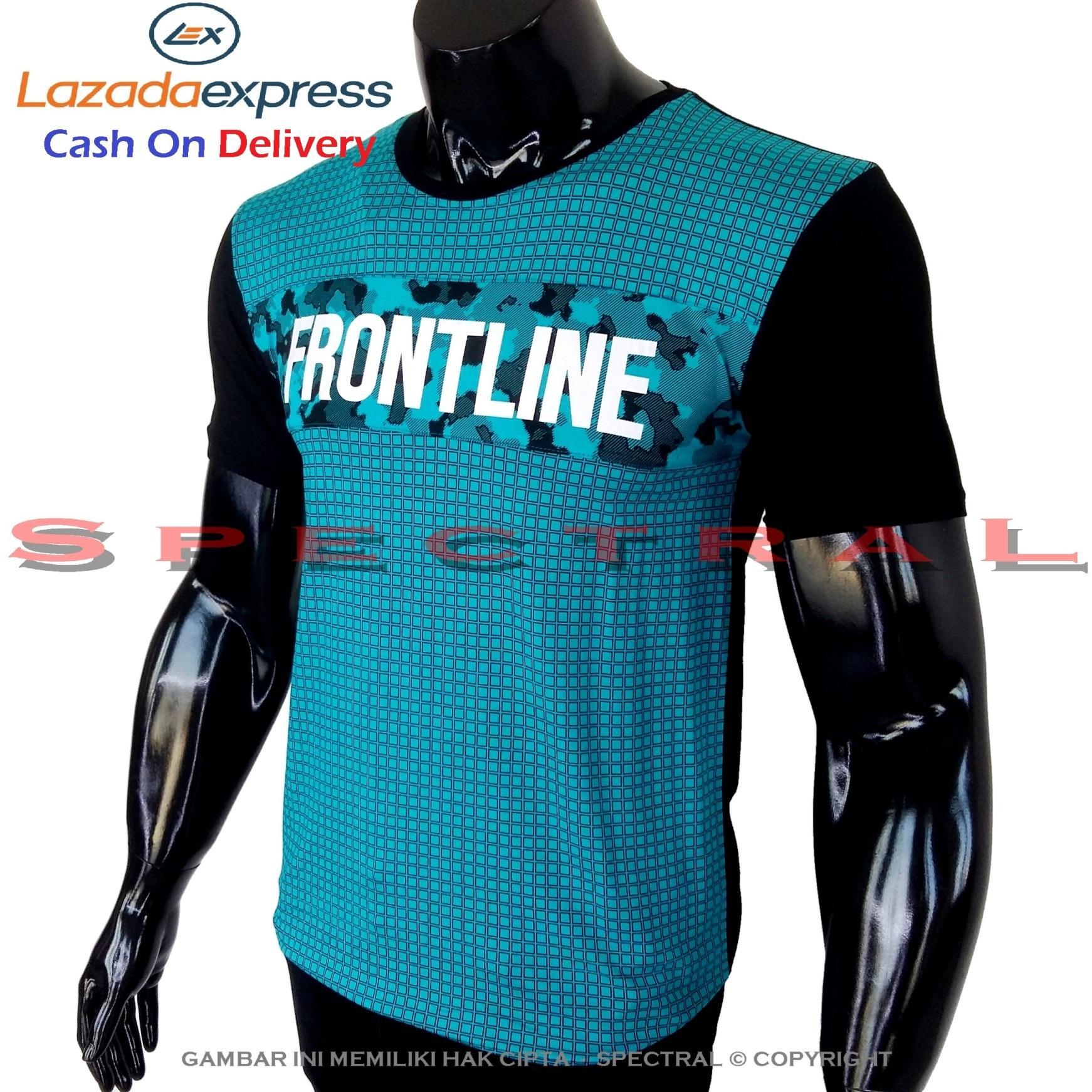 Spectral - Kaos Distro FRONTLINE Soft Rayon Viscose Lycra Pola M Fit To L Simple Fashionable Tidak