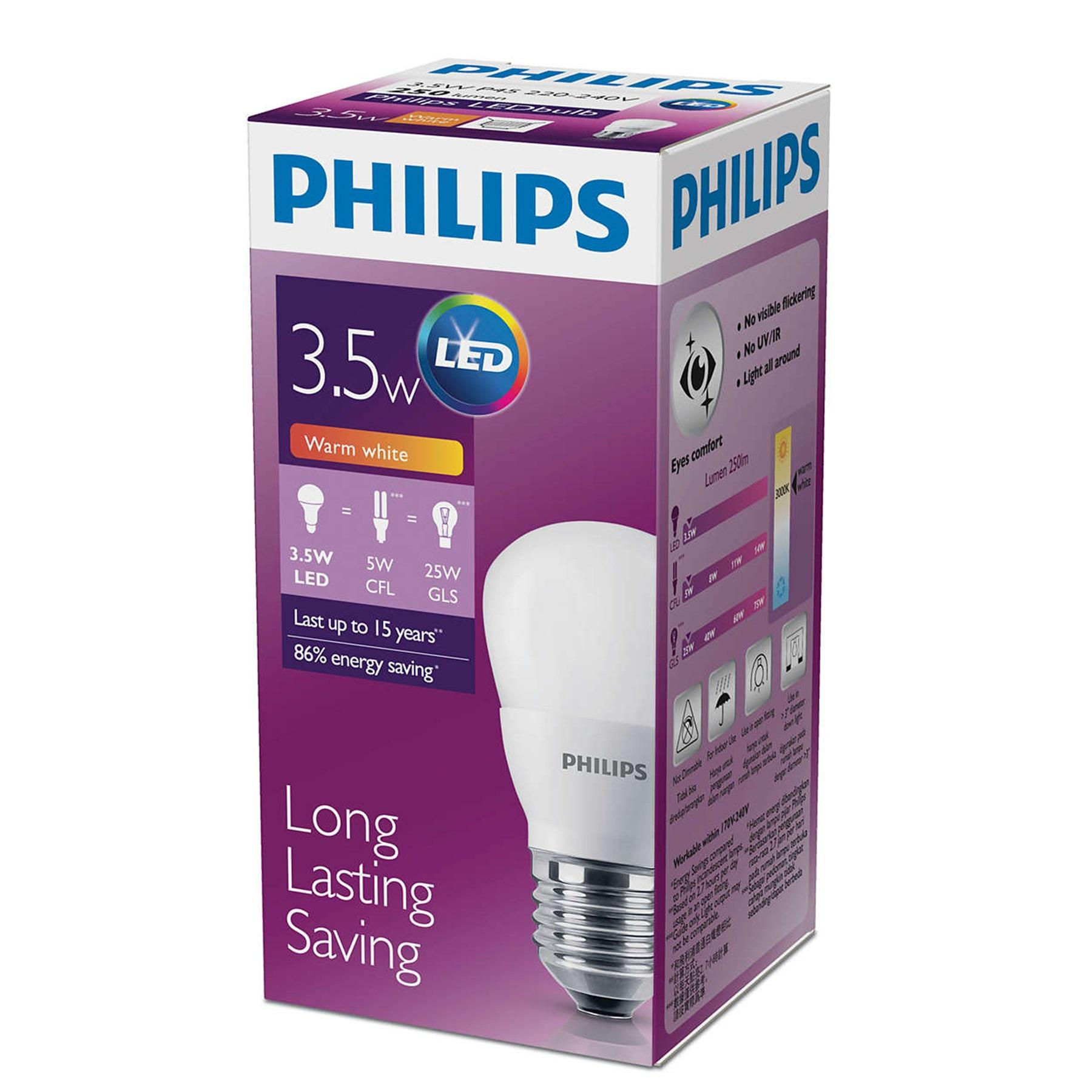 PHILIPS Bola lampu LED 3,5 Watt - Warm White