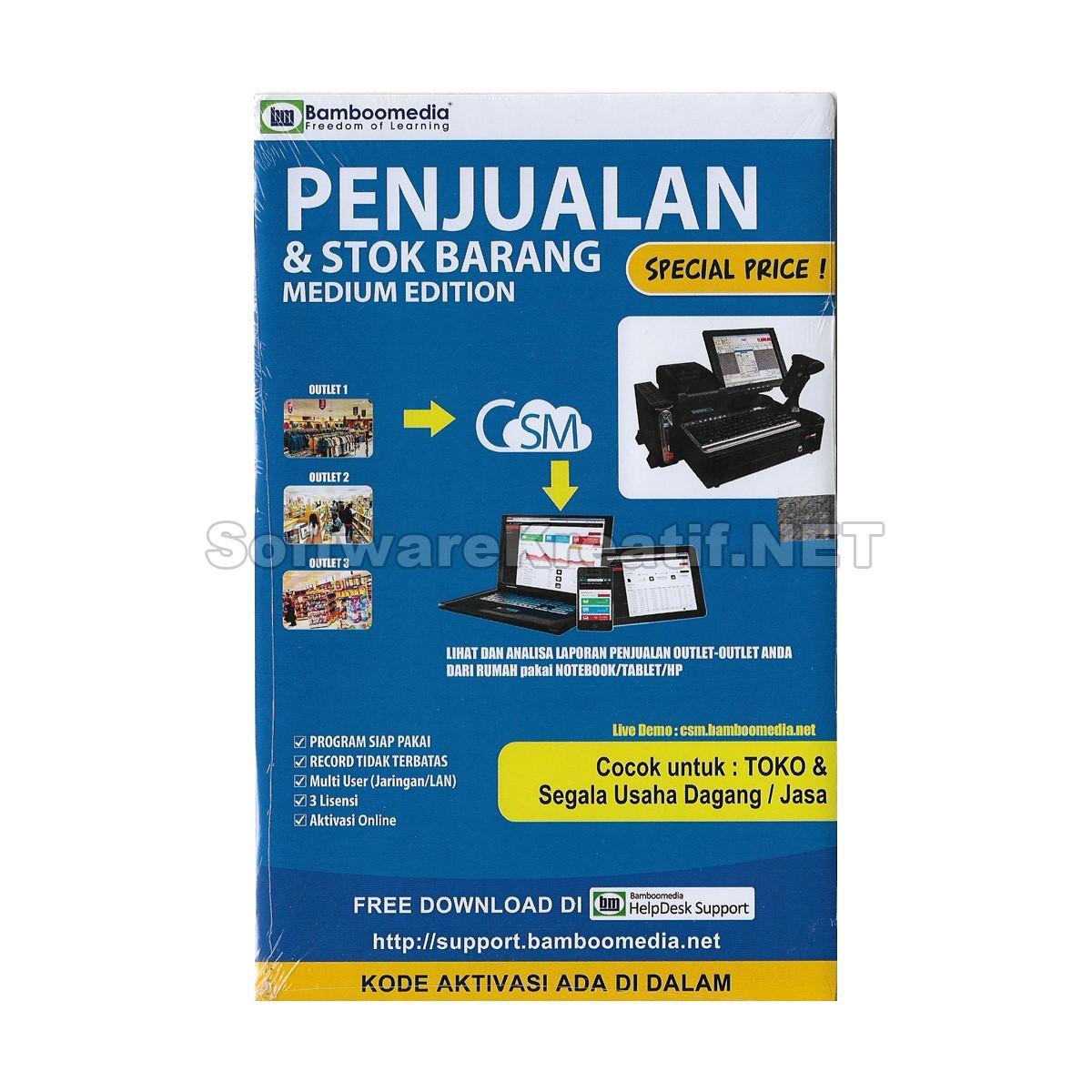 Software Office Original Terbaru Lisensi Proffesional Plus 2016 Bamboomedia Program Penjualan Dan Stok Barang Medium Edition
