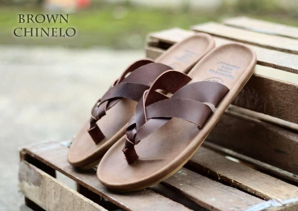 Sandal pria cevany kulit asli no hoax trendy bergaya masa kini