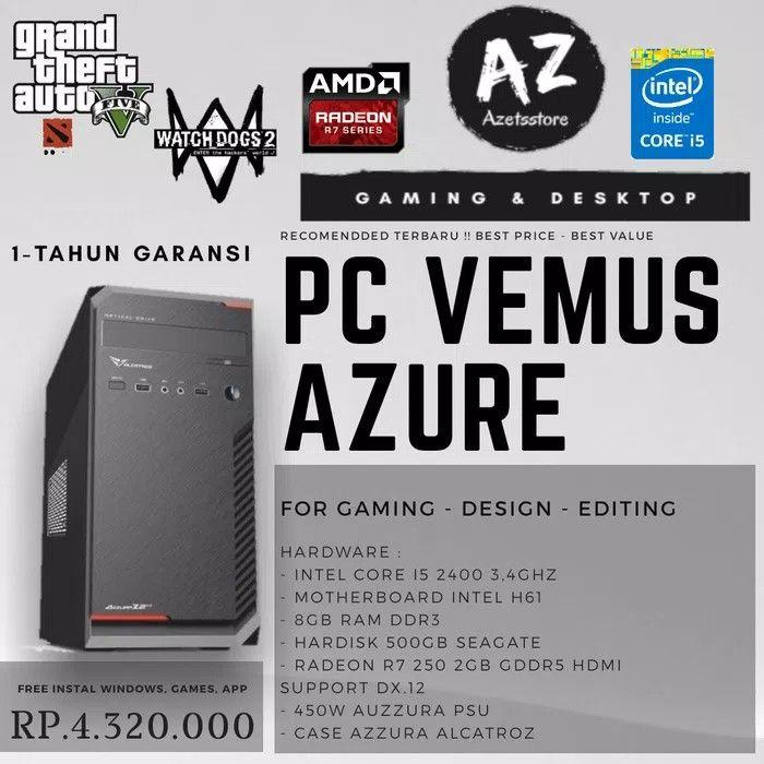 PC Rakitan Venus Azure Intel Core I5 FR Radeon Series