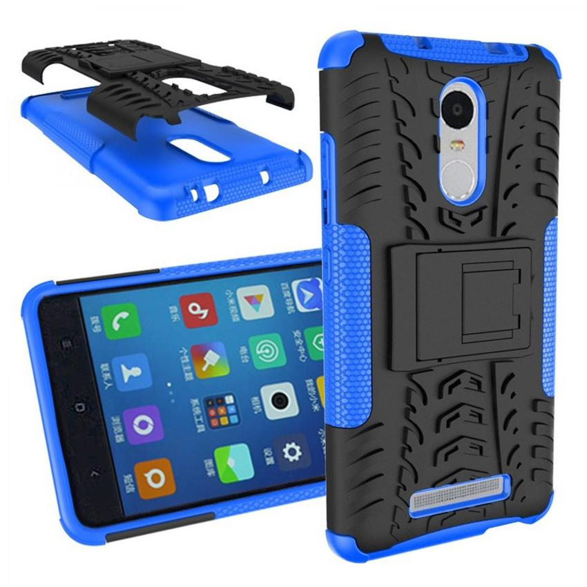 Casing TPU + PC Anti Knock Hard Armor Style Protector Case Cover For Xiaomi Redmi Note 3 Kenzo Hardcase Pelindung Hp Handphone Smartphone Accessories Tahan Benturan Kuat Kokoh With Stand Mode Easy Access to All Buttons s8644 - Blue