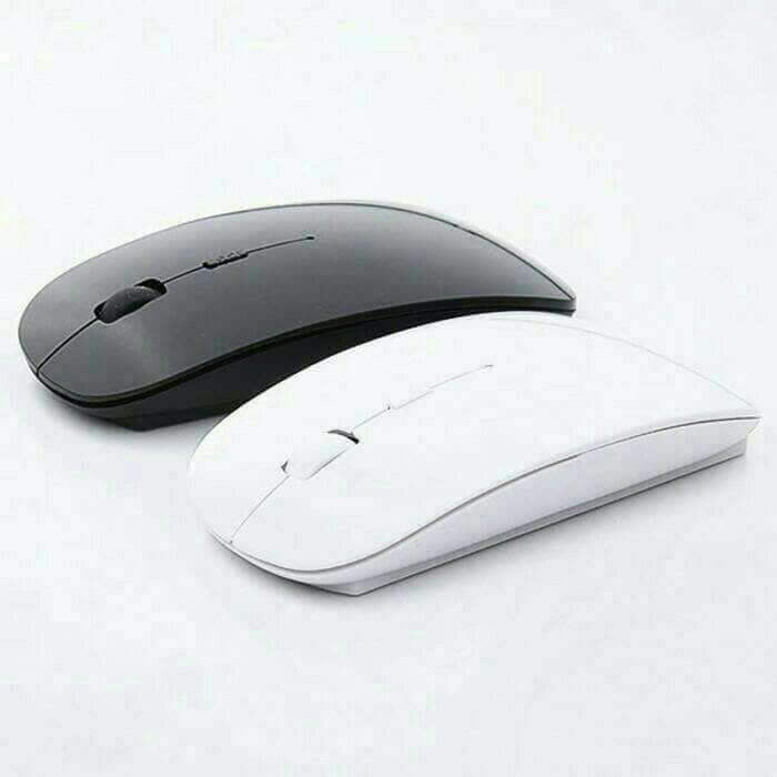 Mouse Wireless Model Mirip Mac Apple Bluetooth Wirreless
