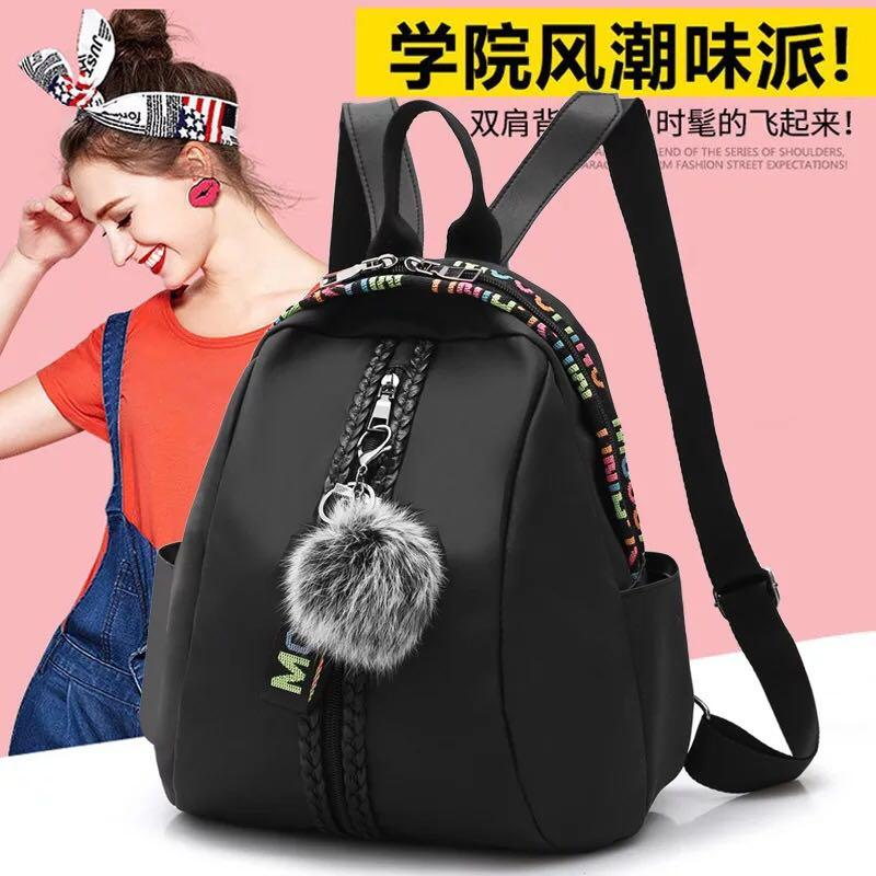 NEW RESTOCK+BEST SELLER BQ400-BAG BLACK RANSEL + GANTUNGAN TAS IMPORT WANITA MURAH