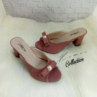 Price Checker Kimee - Pearl Lady Chunky Heels pencari harga - Hanya Rp47.025