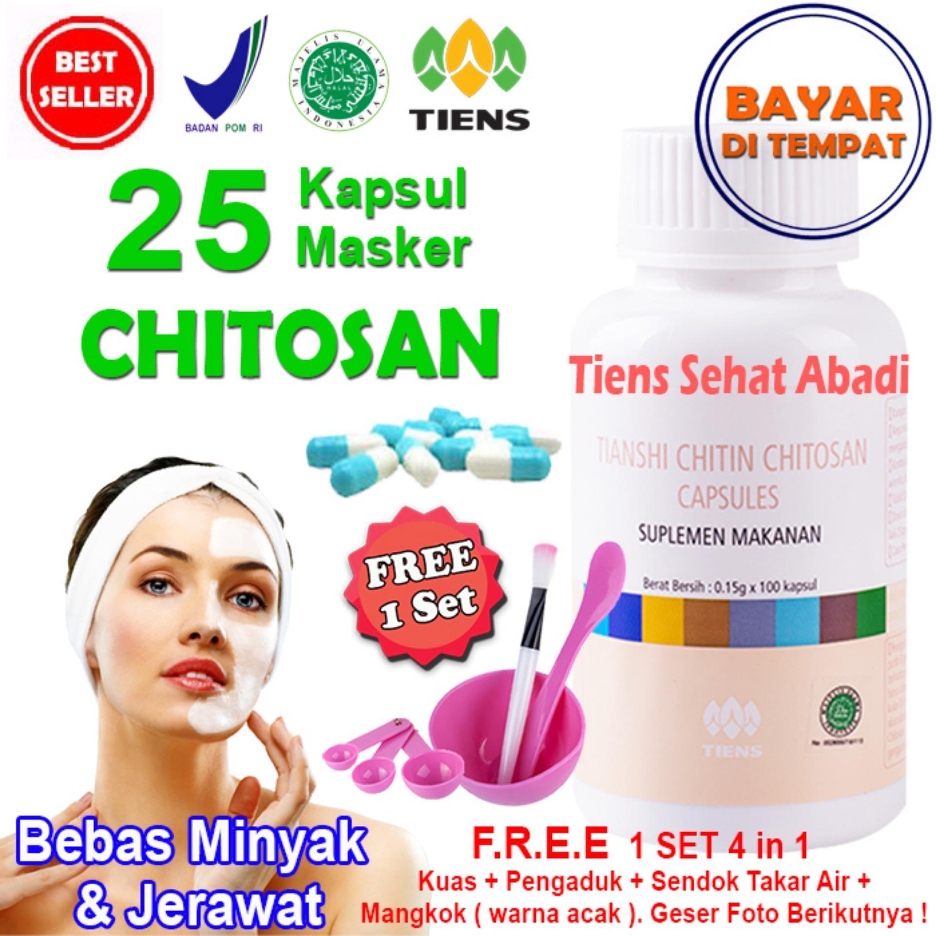 Masker TIENS Chitosan Herbal Anti Jerawat - isi 25 Kapsul | Obat jerawat | Obat penghilang jerawat | Obat penghilang bekas jerawat | Obat bekas jerawat |