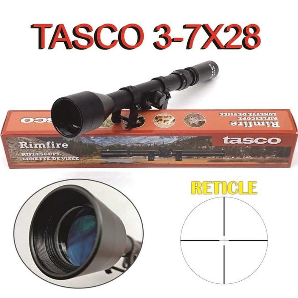 Teleskop Zoom Jarak Jauh Tasco Tipe 3-7 x 28 High Quality Murah dan Kuat - Hitam