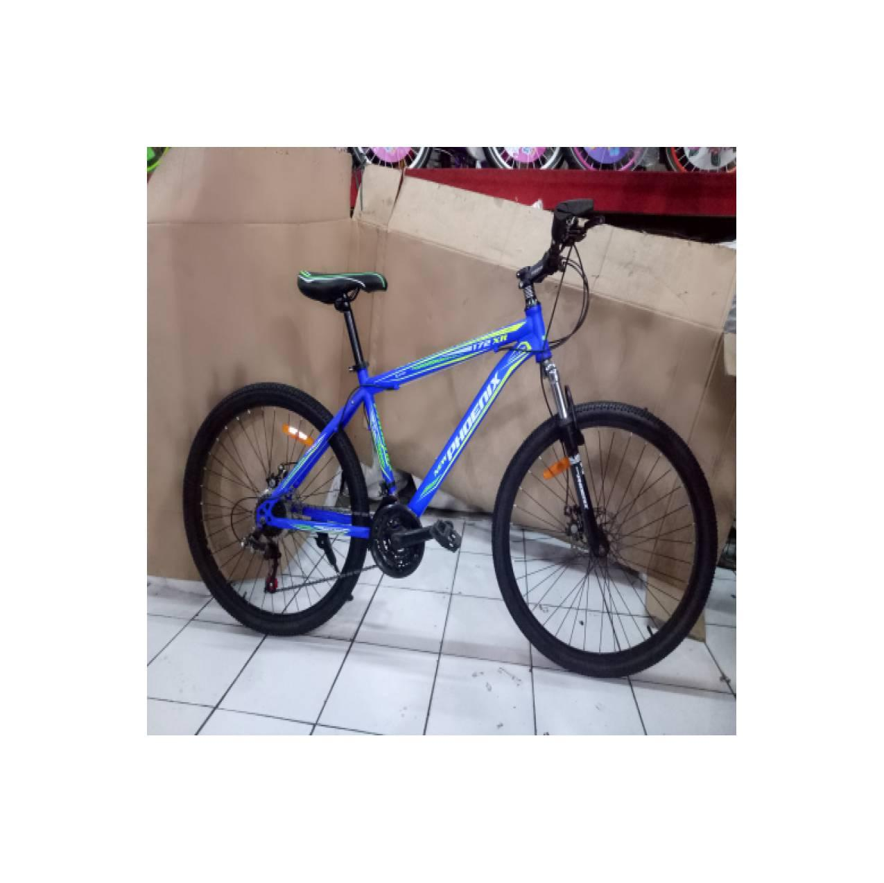 sepeda gunung/ mtb 26 phoenix 172 xr 21 speed f/r brake:rem disc