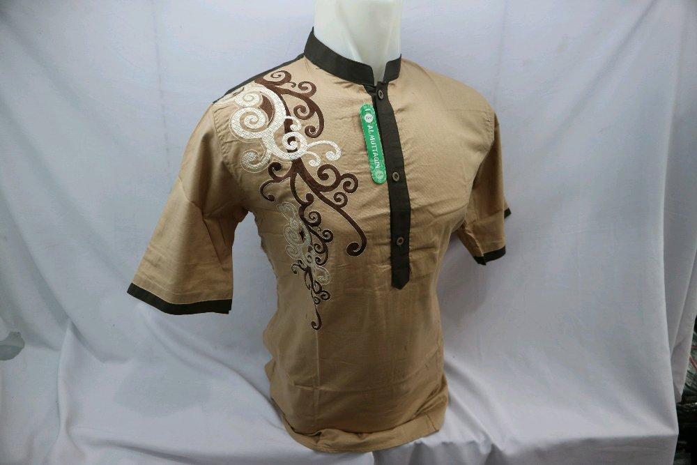 Grosir Baju Koko Mocca Bordir Lengan Pendek Kemeja Gamis Muslim Tanah Abang Jakarta di lapak Al Muttaqin Collection produsenbajukoko