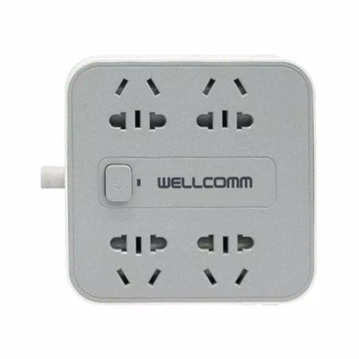 Charger Power Socket 4 USB 4.2A With Stop Kontak Wellcomm