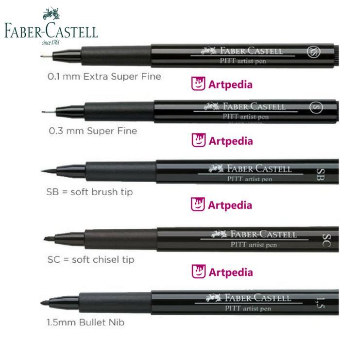 PROMO  Faber Castell PITT Artist Pen - Black - India Ink - Satuan  TERLARIS
