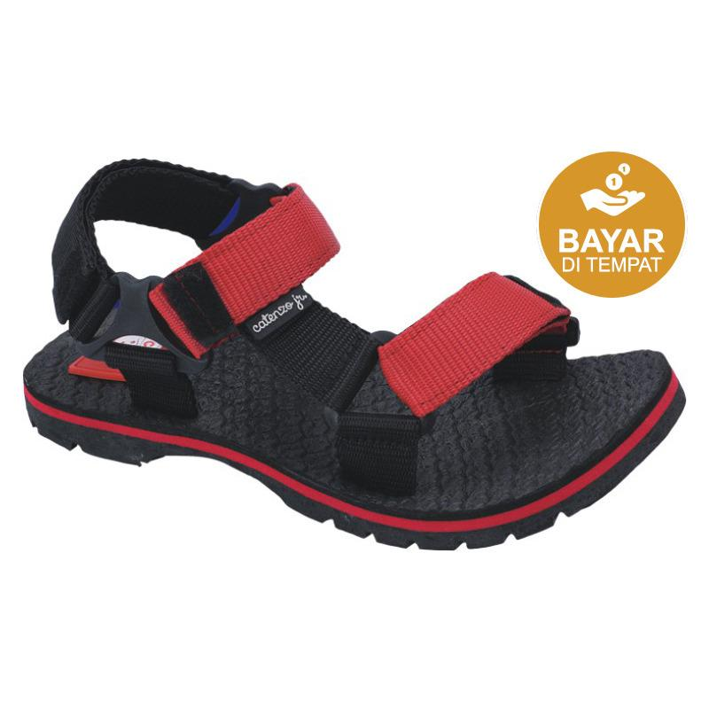 Catenzo Junior Sandal Gunung Anak CJJ 002 - Black Red