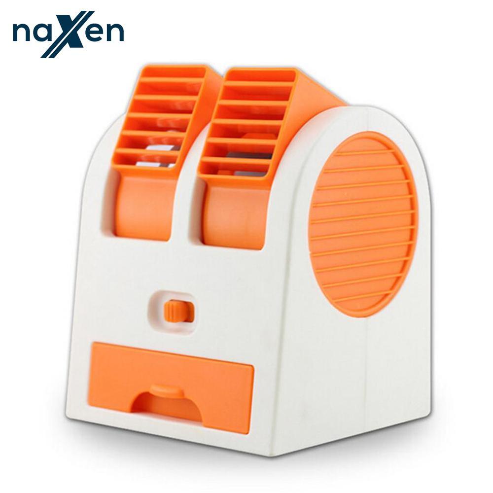 Naxen Kipas Angin AC Mini Portable USB Fan Double Blower
