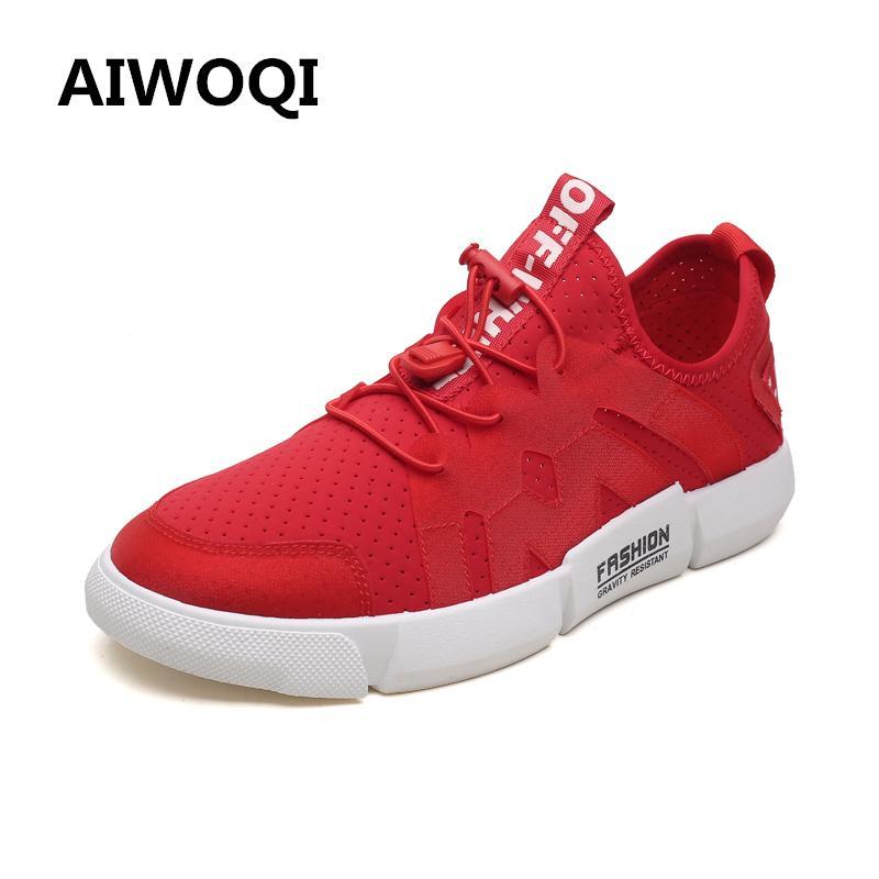 Pria Wanita Unisex Sepasang Casual Fashion CasualSneakers Bernapas Athletic Olahraga Menjalankan Sepatu AIWOQI-Intl