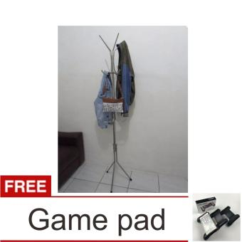Pencari Harga Lanjarjaya Stainless Steel Standing Hanger Multifungsi / Gantungan Tas Baju Serbaguna + Game Pad terbaik murah - Hanya Rp118.408