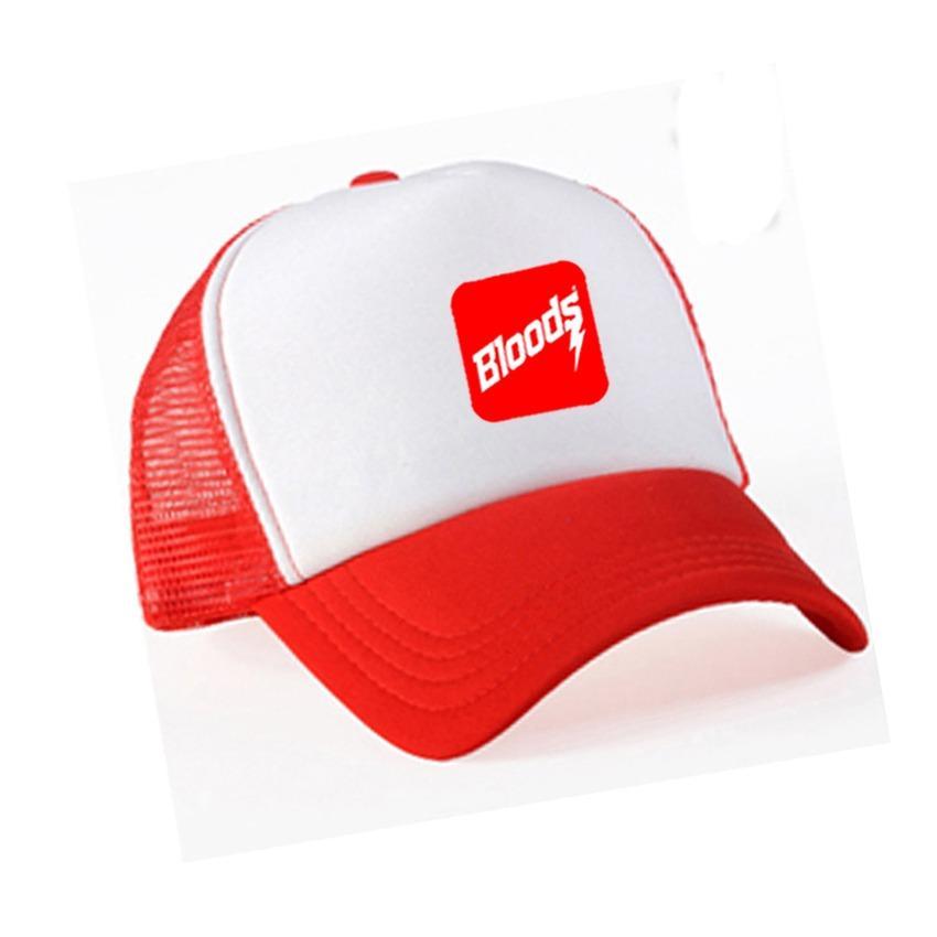 Do More Store Topi Trucker Distro Bloods Logo - White Jaring Red Premium