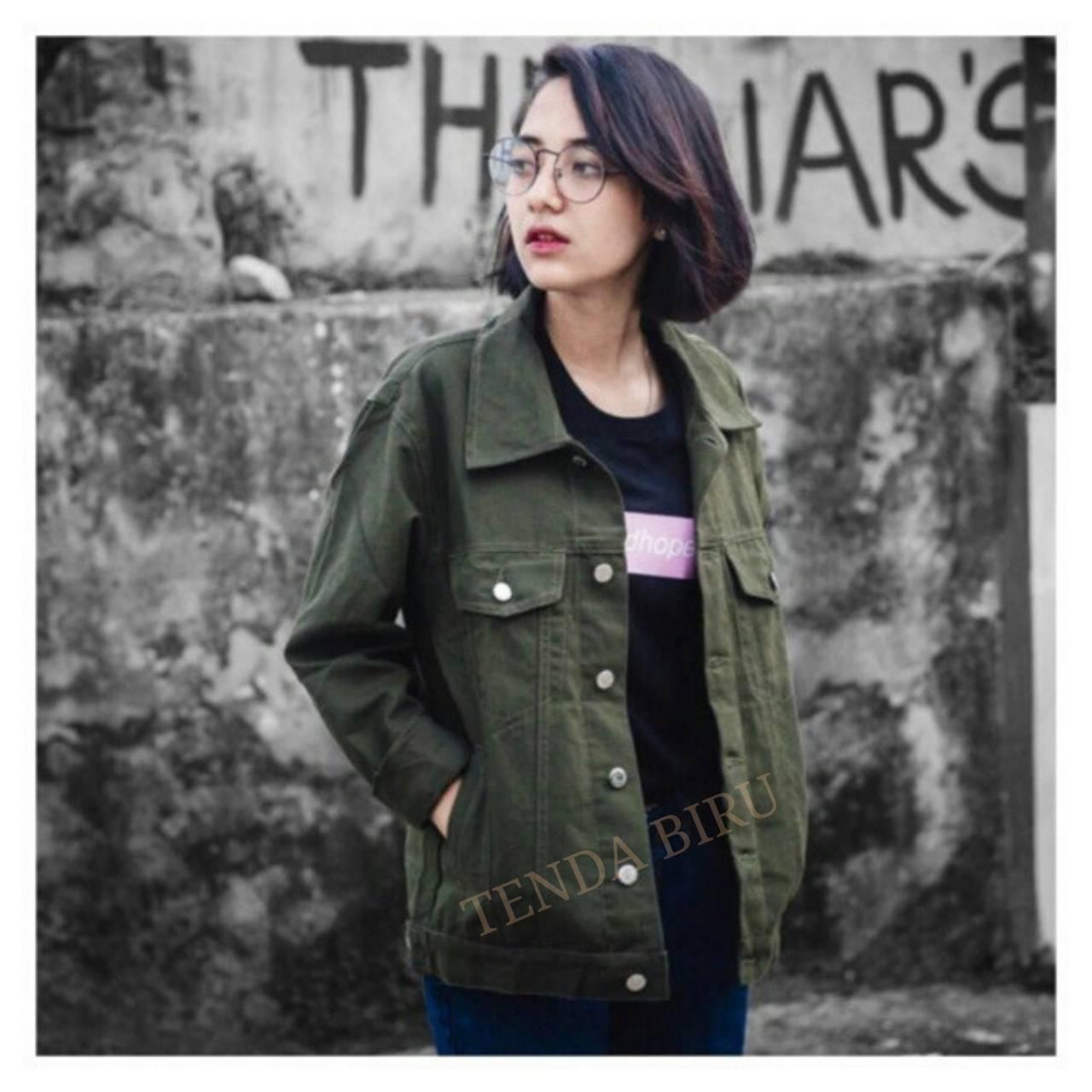 Jaket Mantel Wanita Terbaik Lazada Parka Waterproof Terlaris Baru  Brand Original Blessher New Tenda Jacket Jeans Denim Trendy Oversize