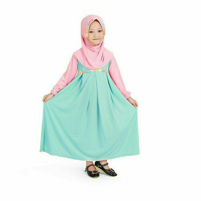 Baju muslim gamis anak perempuan minta pecah lucu simpel murah