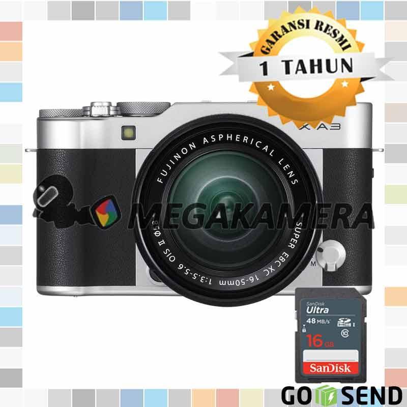 Fujifilm X-A3 Kit 16-50mm F3.5-5.6 OIS II Mirrorless Kamera Fuji XA3 - Silver