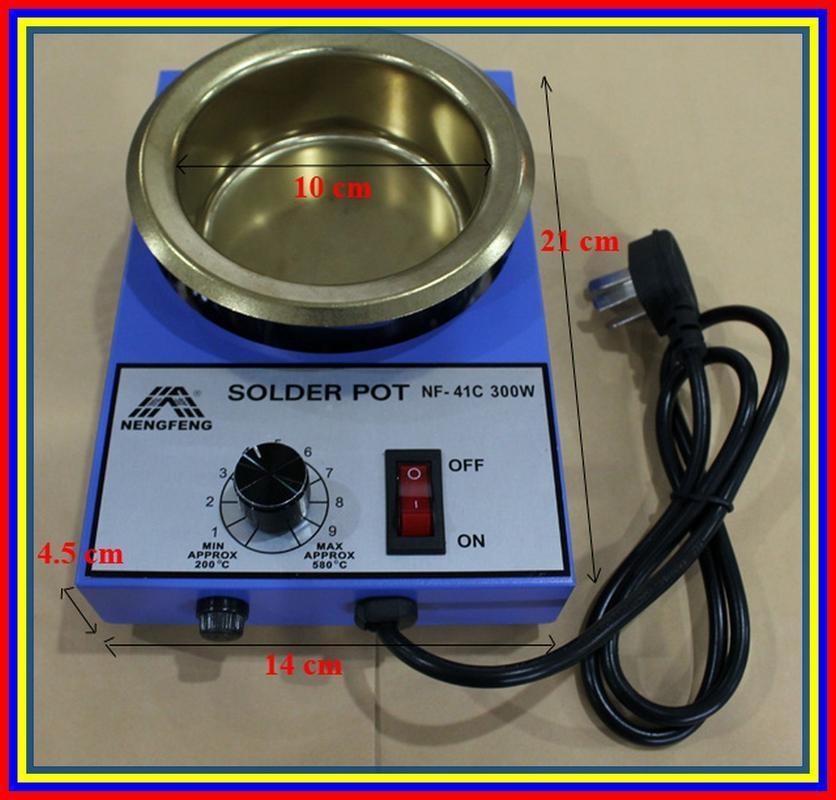 Solder Pot Diameter 10 Cm With Temperatur Control 200 S D 580 Derajat Celcius