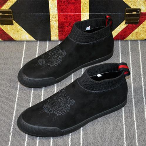 Gaudi Tambah Beludru Musim Dingin Pergelangan Kaki Tinggi Sepatu Trendi Sepatu Pria