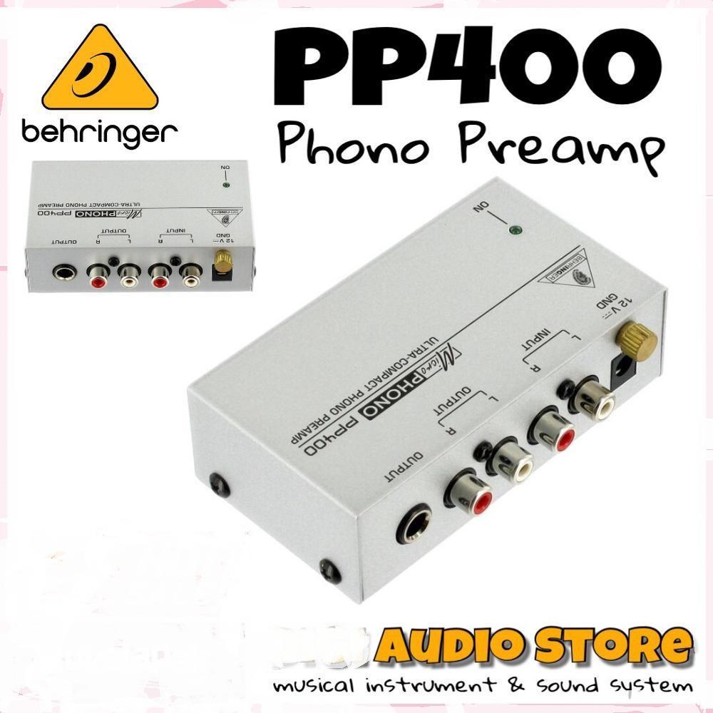 Behringer MicroPhono PP400 Phono Preamplifier for Turntable / Penguat Signal DJ / Disk jockey