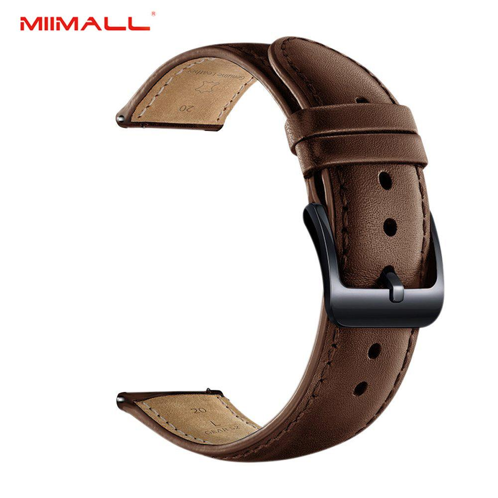 Miimall Gear Sport Watch Band, Luxury Genuine Leather Replacement Smart Watch Band Strap for Samsung Gear Sport/ Gear S2 Classic Smart Watch