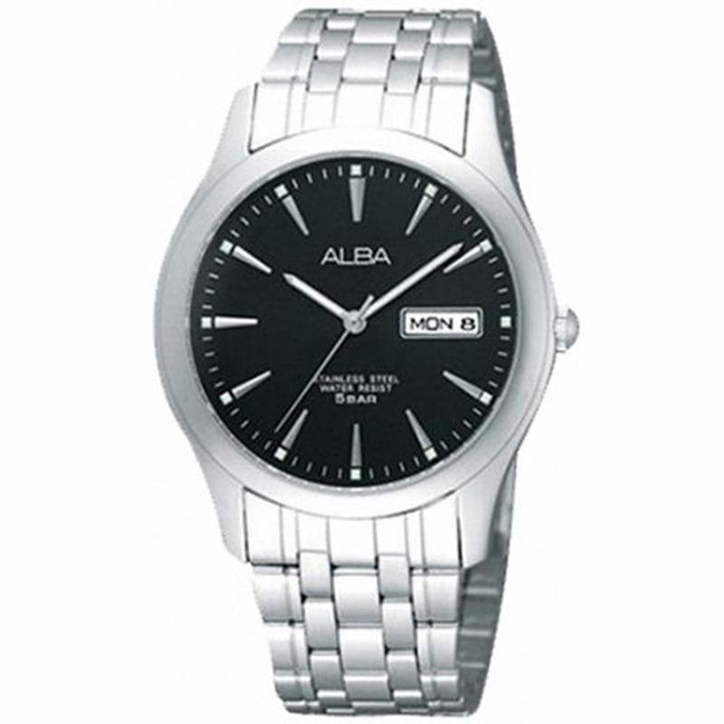 ALBA - Jam Tangan Pria - Silver - Stainless Steel - AXND55