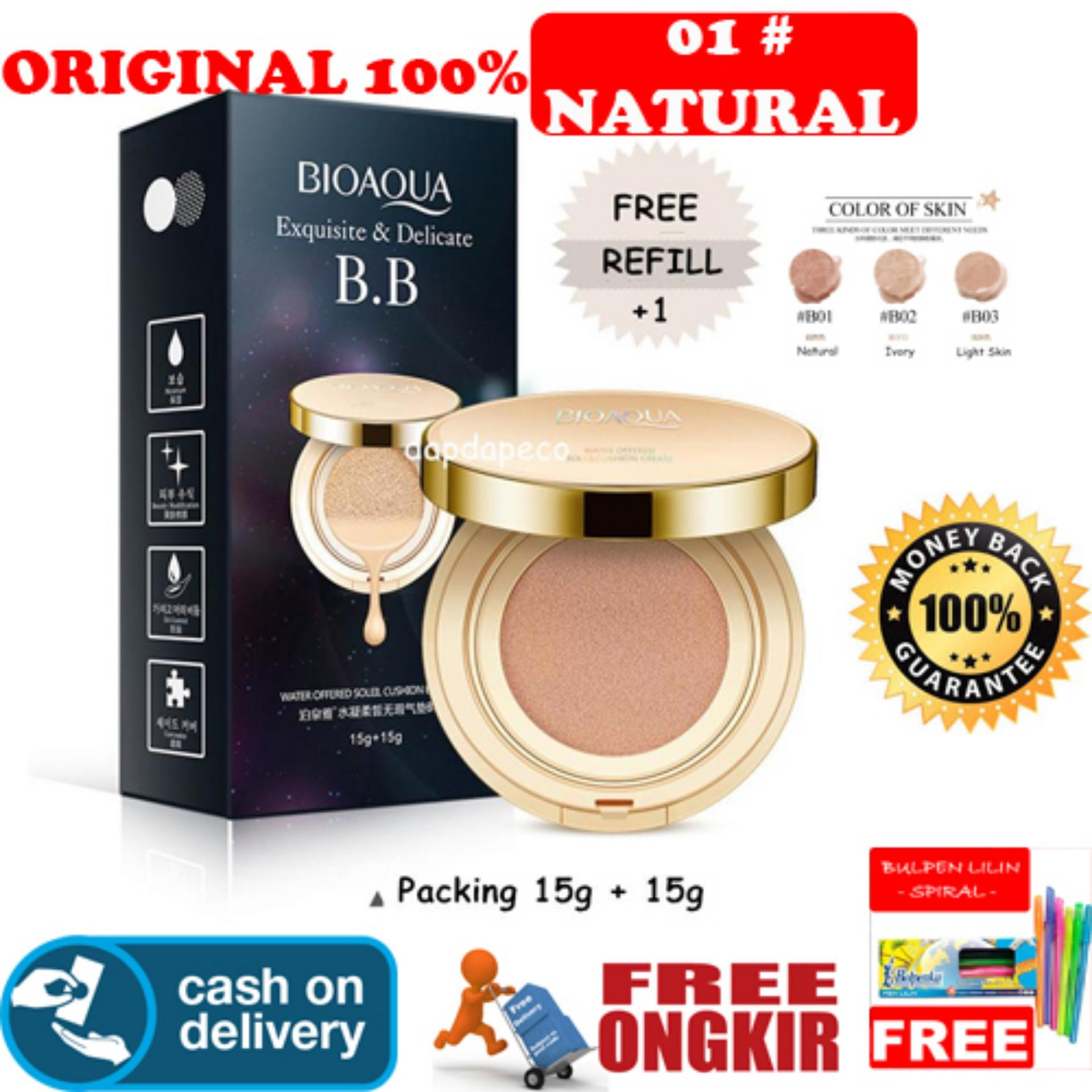 HOKI COD [01] Natural Bioaqua Exquisite and Delicate BB Cream Air Cushion