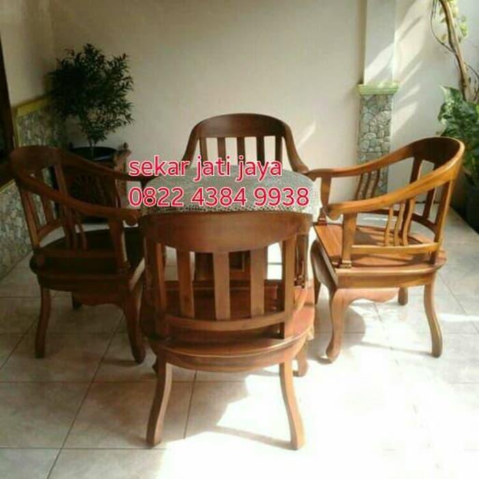 Promo    Meja kursi betawi jati jepara motif jadul bisa untuk ruang tamu/teras    Original