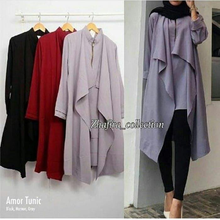 Baju Amor Tunik Atasan Wanita Blouse Baju Muslim Blus / baju / baju wanita / baju atasan wanita / baju motif / baju murah / baju keren / baju lucu / baju berkualitas