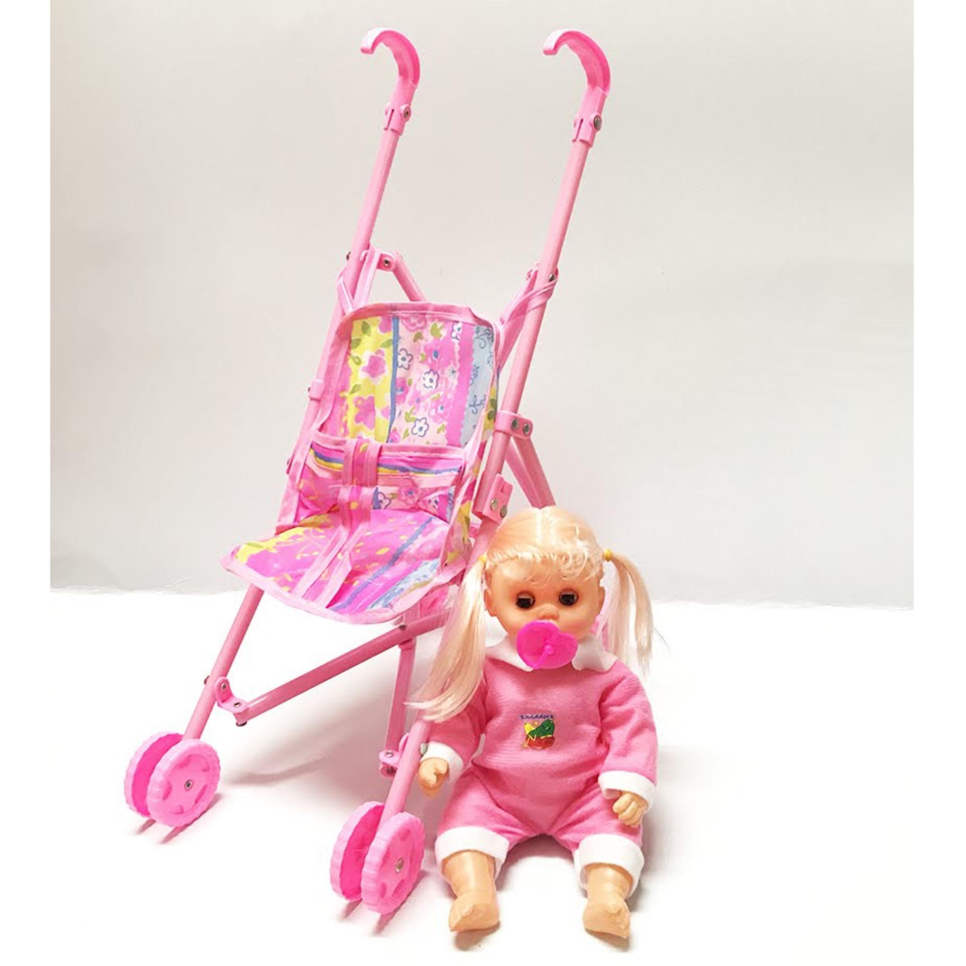 Indonesia. (BAYI BISA NANGIS) RKJ Mainan Anak Perempuan My Baby Set +  Dorongan   Trolley 84ebcd75ed