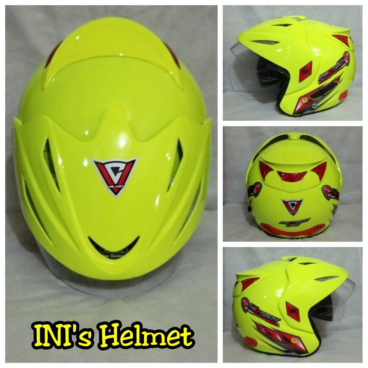 Vc Injection Original Helmet Half Face Double Visor 2 Kaca Sni Busa Sangat Nyaman Not Ink