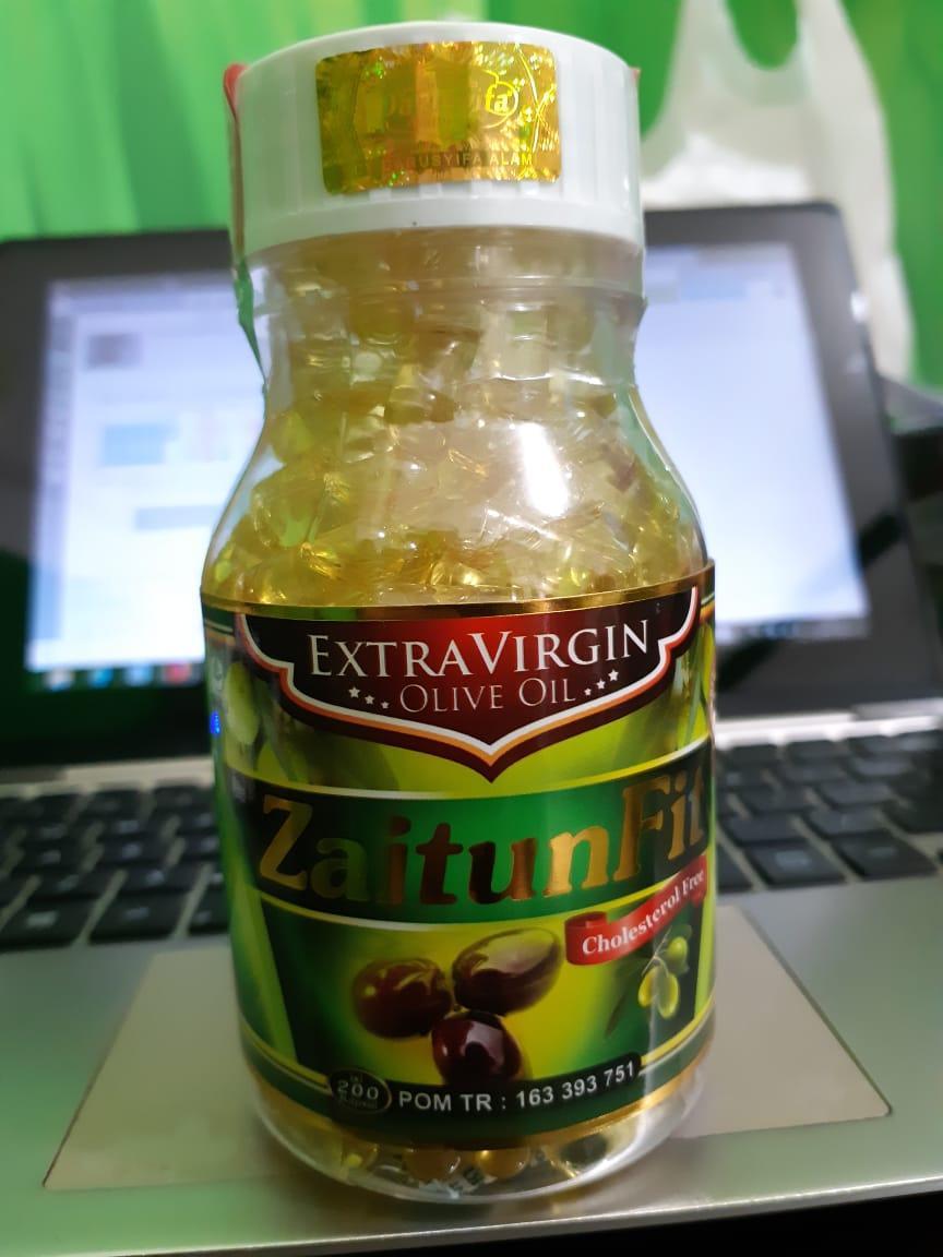 Paket 4 botol kapsul minyak Zaitun fit 200 kps