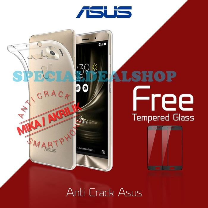 ... Rp 42 000 Acrylic Anticrack Mika Case Free Tempered Glass for Asus Zenfone Live ZB501KL Belakang