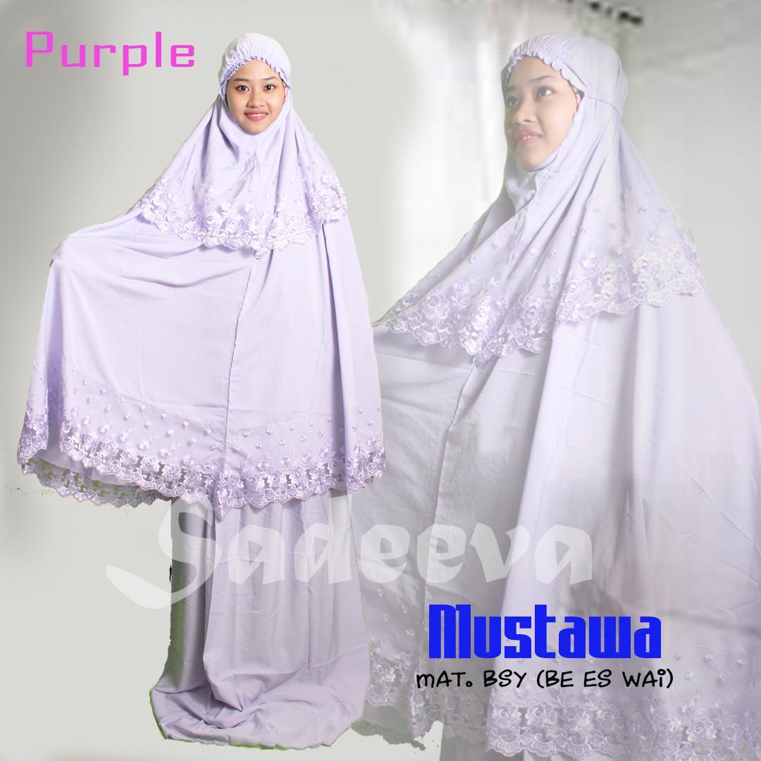 Mukena Muslim Dewasa Trendy Modern Mewah Mustawa