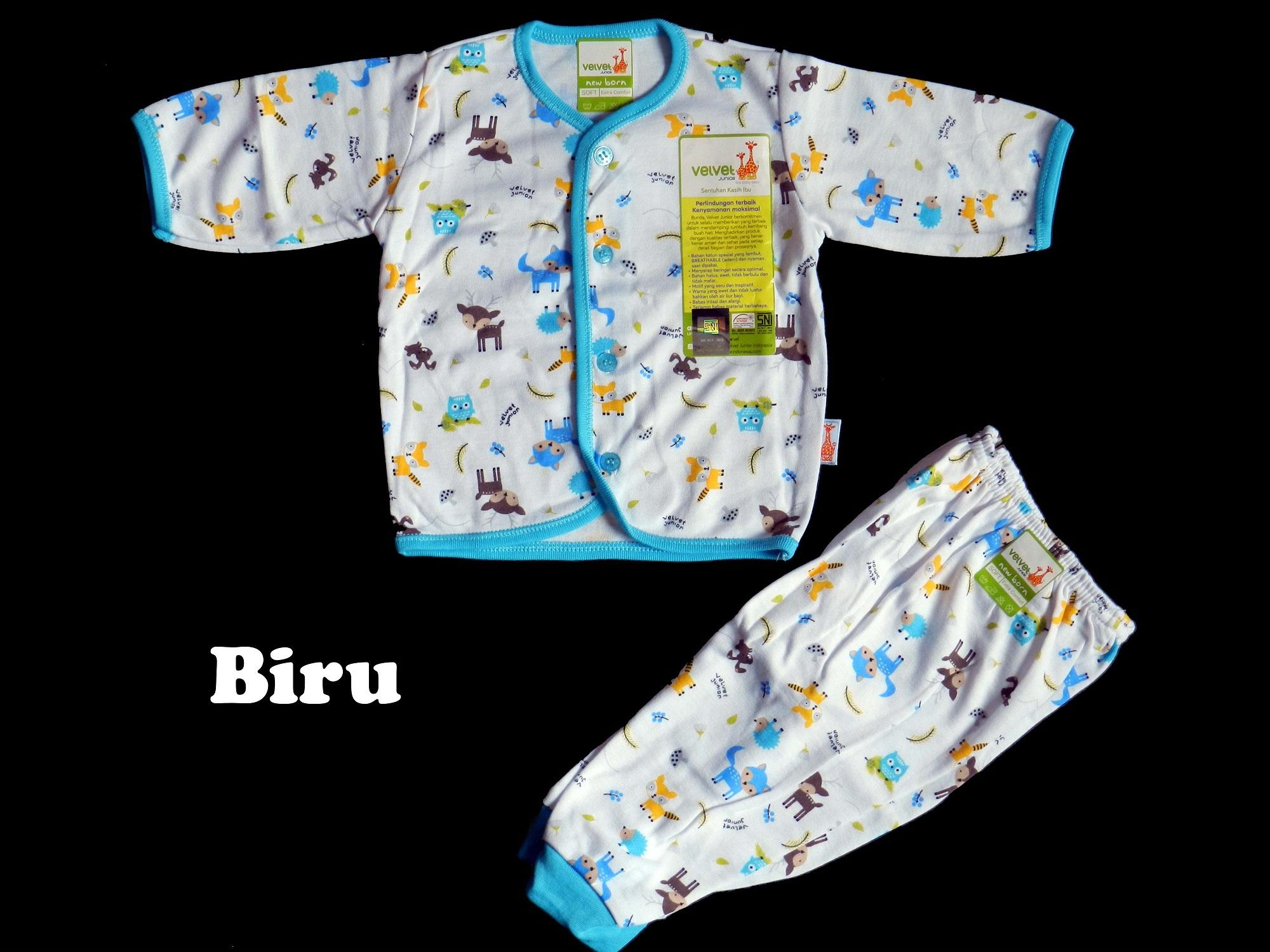 Baju Bayi Setelan Velvet Panjang New Born