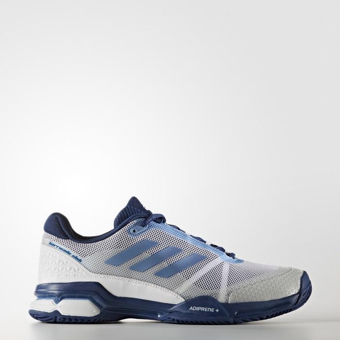 Sepatu Tennis Adidas Barricade Club - White/Blue/Navy Original