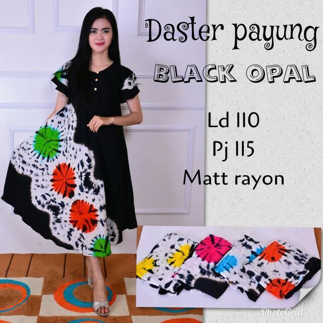 Daster payung black opal daster murah batik modern baju kekinian kebaya batik import tanah abang