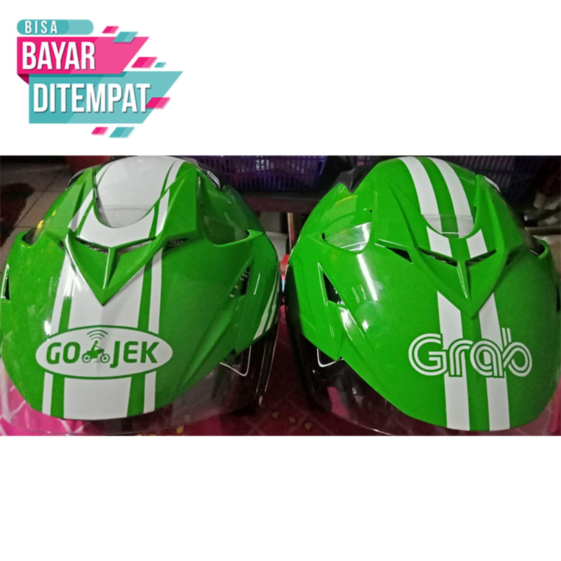 [Promo Best Seller] Helm Dewasa Ojek Online - GRAB Promo Kualitas Setara Helm KYT INK GM WTO MSR BMC NHK