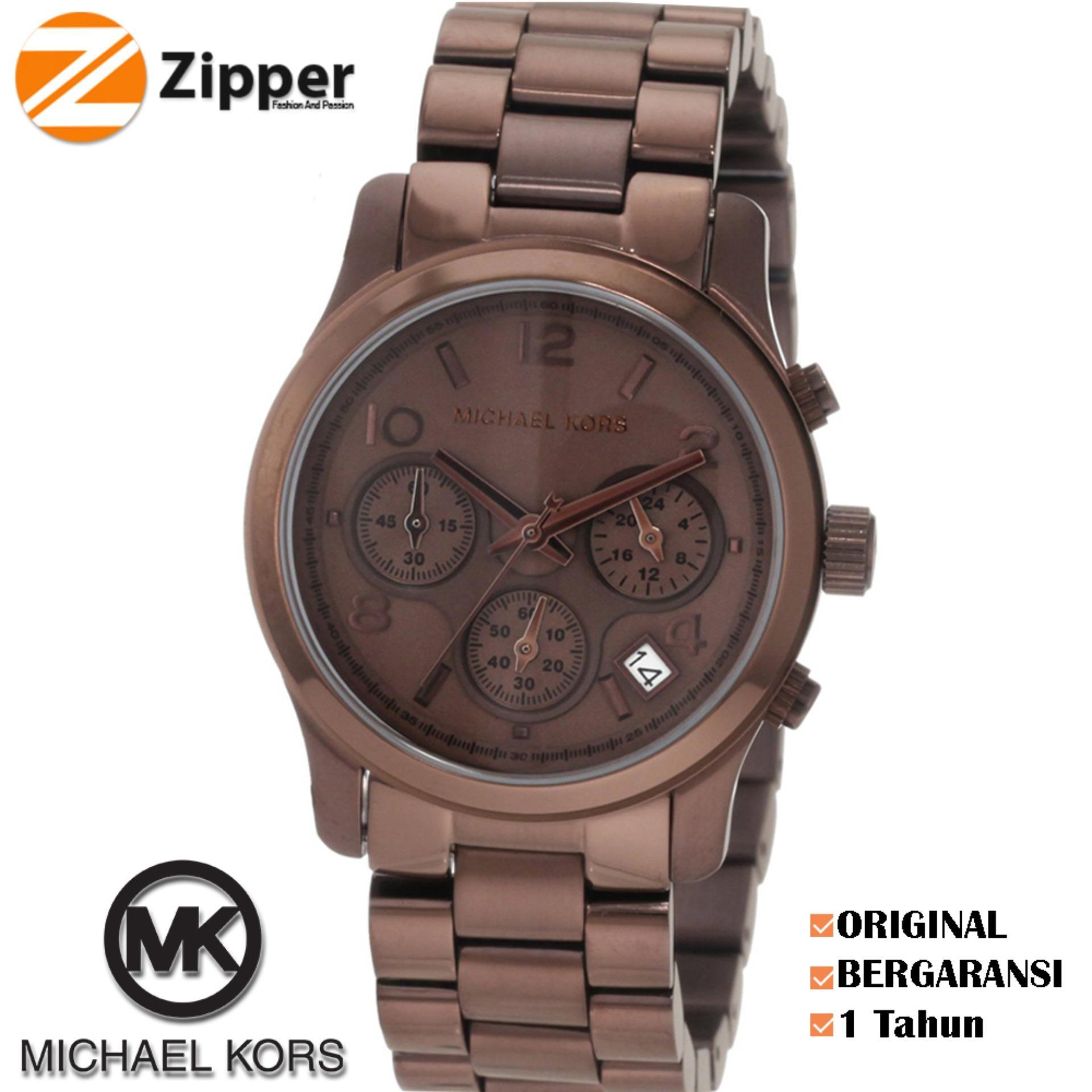 e4d3f8e71bdc Michael Kors Watch Original Jam Tangan Wanita Michael Kors Runway MK5492  Tali Rantai Stainless Strap Dial