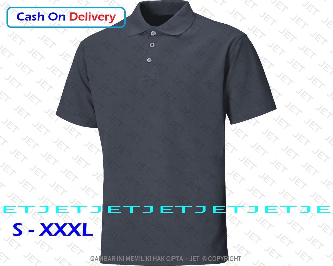 JeT – Polo Shirt – Size Lengkap - 22 Warna – Pria Wanita - Fashion Berkerah e02ea8f195