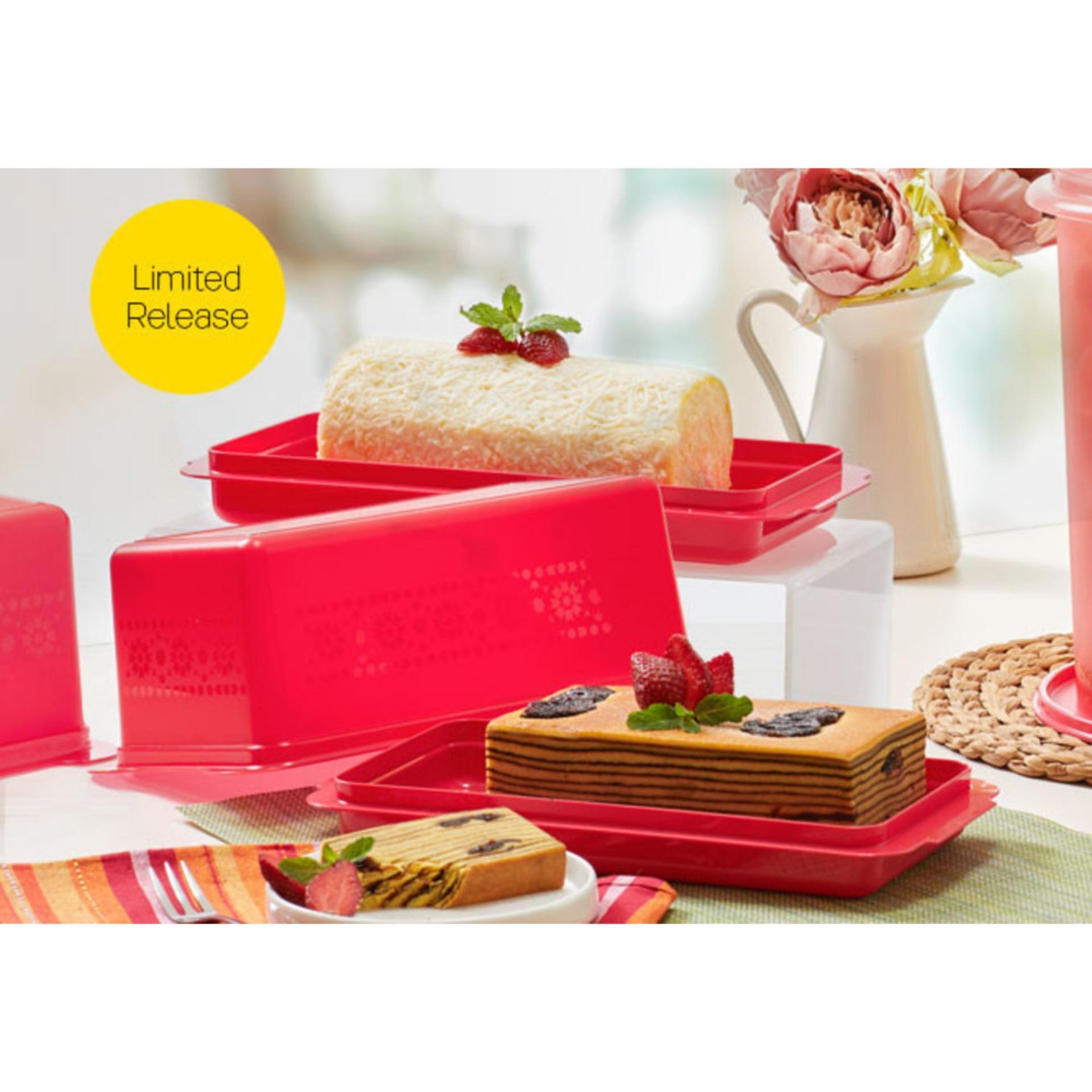 Tupperware Bread Server Merah