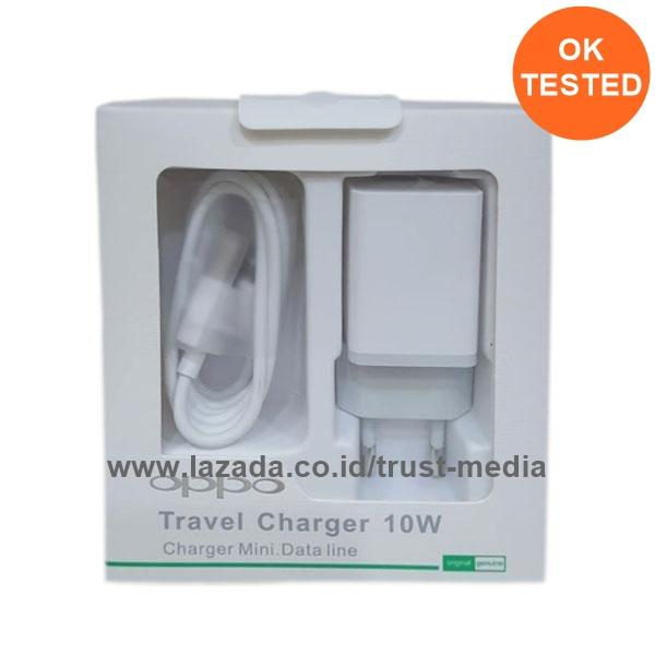 OPPO Travel Charger Plus Data Cable Original Model AK903 - White