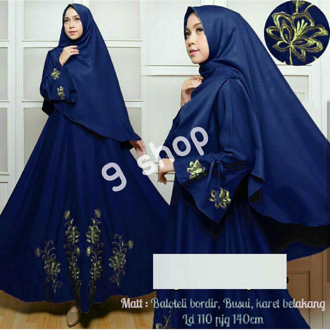 9 Shop Dress Gamis Muslim IMELDA YATTA + Jilbab / Gamis Muslim Syari Syari'i Fashion Maxi / Syari Simple Elegant / Baju Muslim Wanita