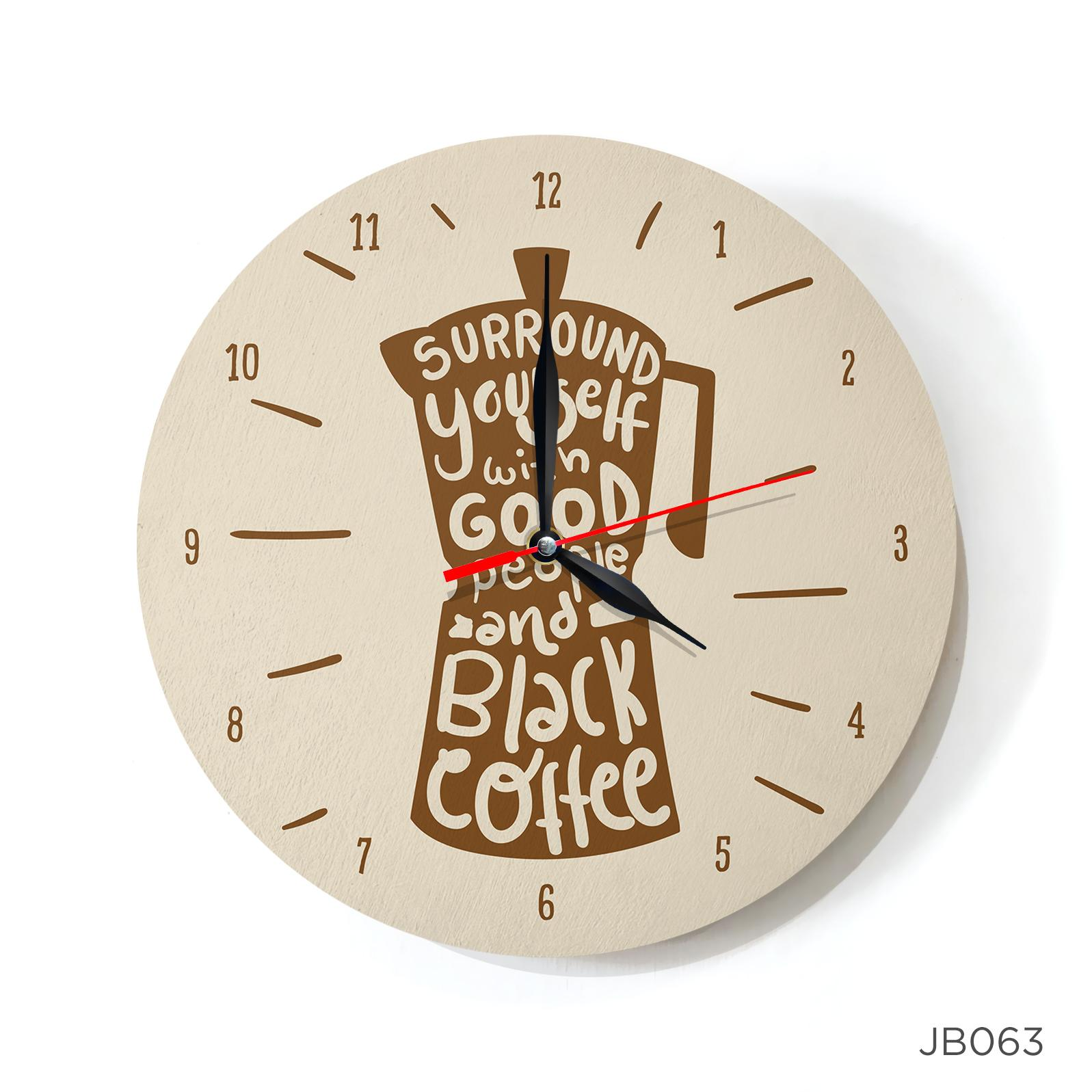 Jam Dinding Wall Clock Black Coffee 30x30 cm JB063 8d1e6ee90d