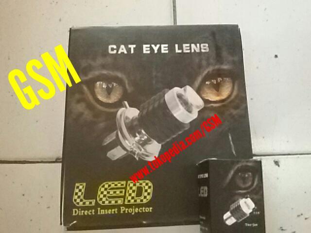 Lampu tembak NEW CAT EYE LENS PROJECTOR SOROT LED CREE U3 MOTOR MOBIL