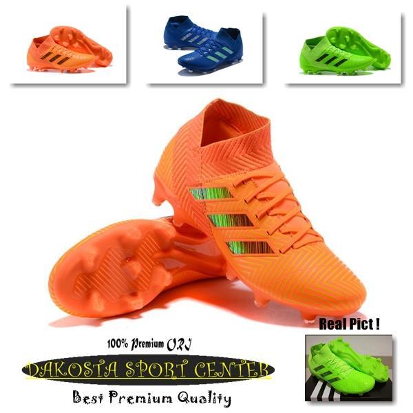 SEPATU BOLA - Soccer Adidas Nemeziz 18+ Three Colour, Blue, Greeen, Orange