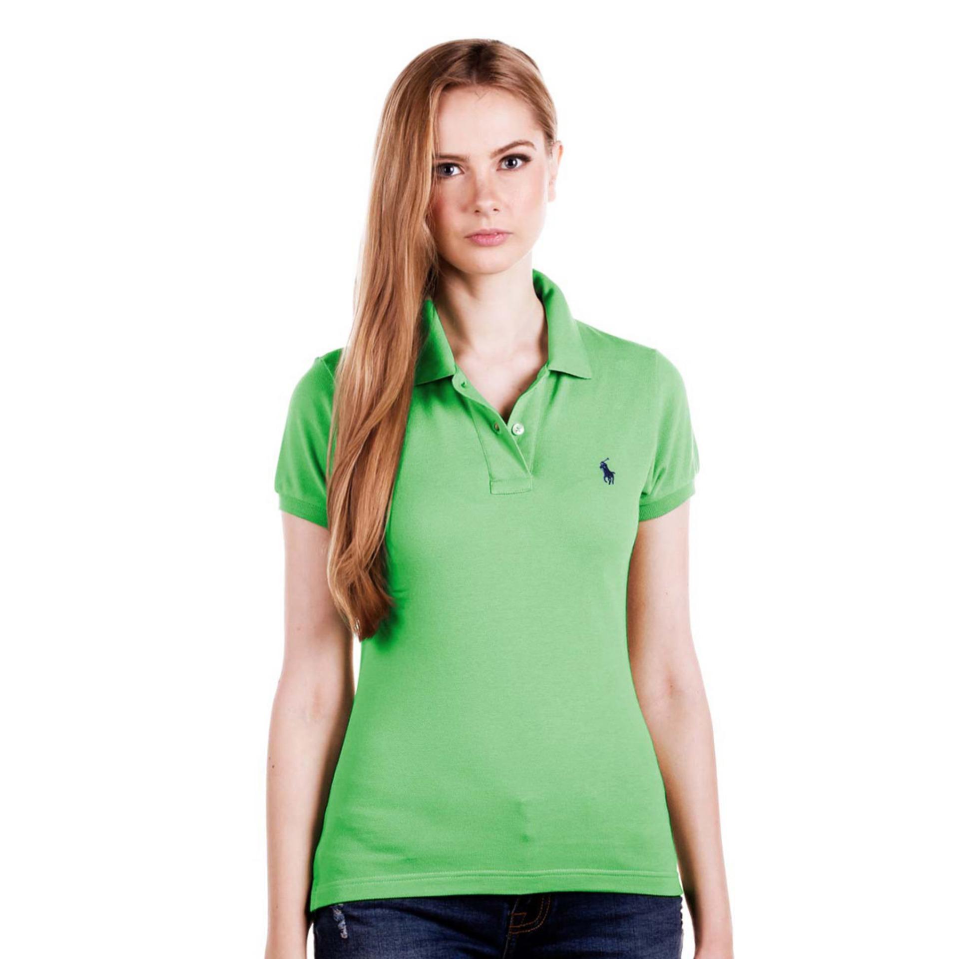 POLO RALPH LAUREN - POLO SHIRT CLASSIC FIT S/S Tiller Green LADIES