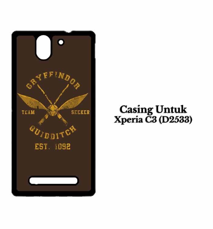 Casing Xperia C3 D2533 Harry Potter Gryfindor logo Custom Hard Case Cover .